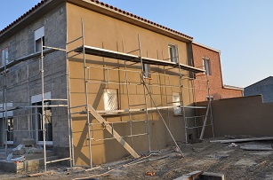 Construction maison 3 Faces - Enduit facade monocouche